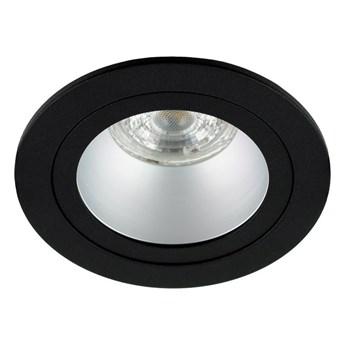 Punktowa oprawa sufitowa LETA 1 Black IP20 okrągła czarna, środek srebrny EDO777344 EDO