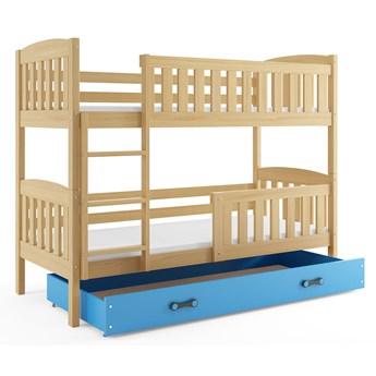 Piętrowe łóżko dla dzieci drewniane 80x190 - Celinda 2X