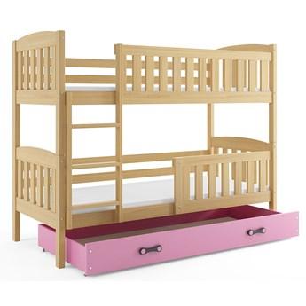 Drewniane łóżko dla dzieci z drabinką 80x190- Celinda 2X