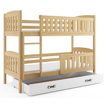 Piętrowe łóżko dla dzieci z białą szufladą 90x200 - Celinda 3X