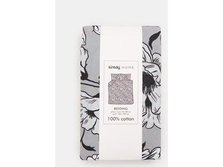 Sinsay - Bawełniany komplet pościeli 160x200 - Szary Bawełna 160x200 cm Kategoria Komplety pościeli