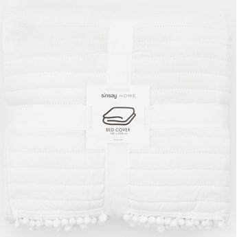 Sinsay - Narzuta na łóżko 180x220 - Kremowy