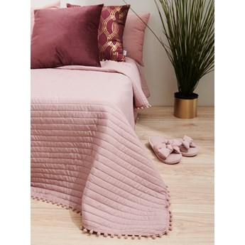 Sinsay - Narzuta na łóżko 220x240 - Różowy