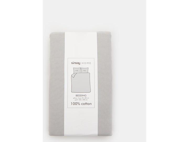 Sinsay - Bawełniany komplet pościeli 160x200 - Jasny szary Bawełna 160x200 cm Kategoria Komplety pościeli