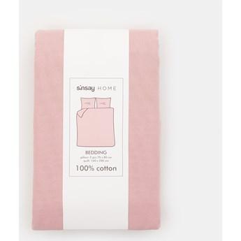 Sinsay - Bawełniany komplet pościeli - Różowy