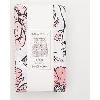 Sinsay - Bawełniany komplet pościeli 200x220 - Biały