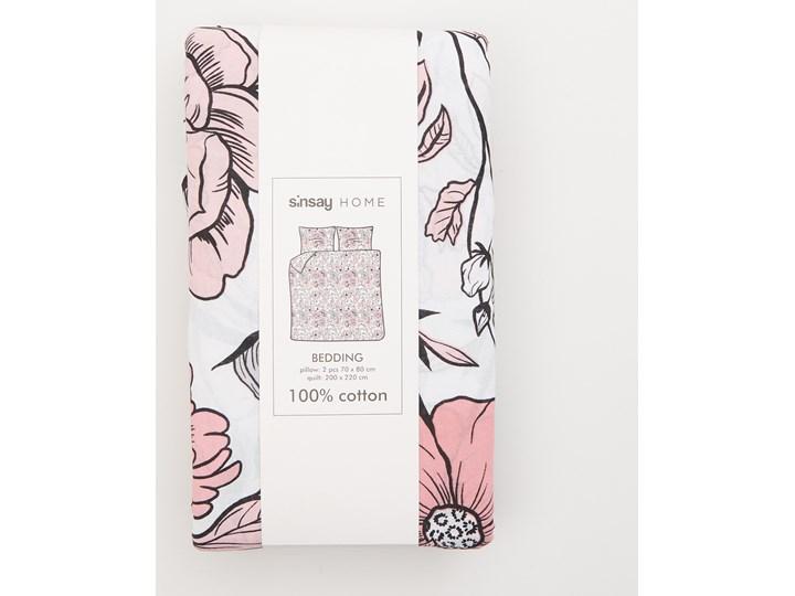 Sinsay - Bawełniany komplet pościeli 200x220 - Biały Bawełna 200x220 cm Kategoria Komplety pościeli