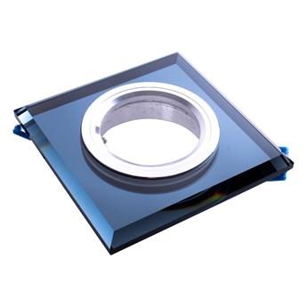 Oczko sufitowe szklane KWADRATOWE. Kolor: CZARNY