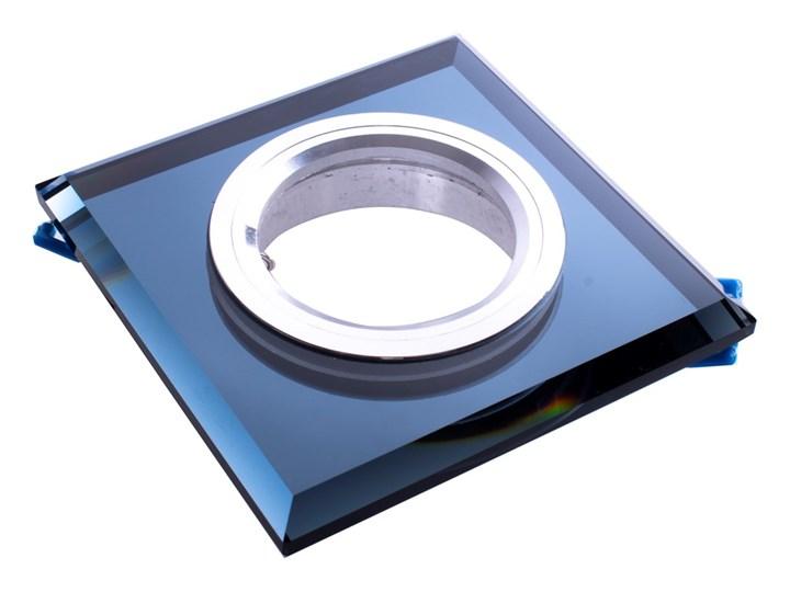 Oczko sufitowe szklane KWADRATOWE. Kolor: CZARNY Oprawa stropowa Kategoria Oprawy oświetleniowe