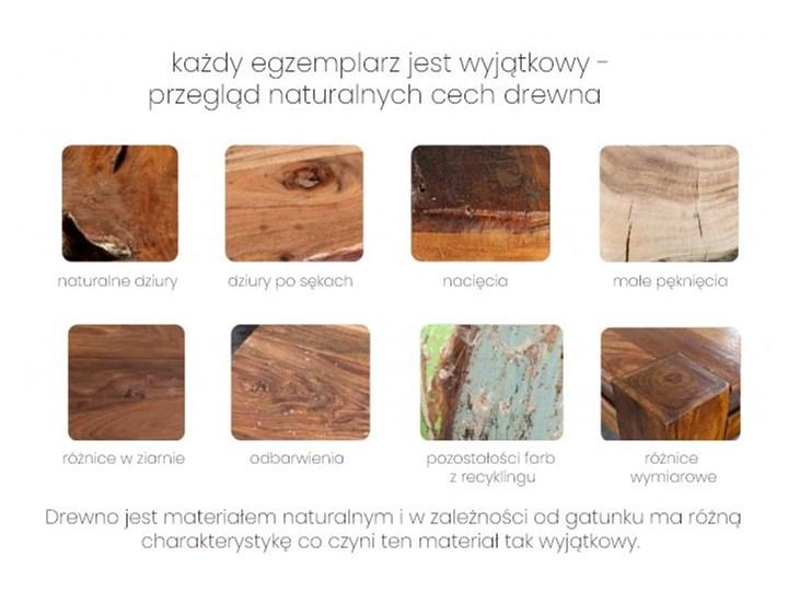 Stolik Kawowy mahoniowy Opium 60x60 cm - styl Shabby Kształt blatu Kwadratowe Wysokość 35 cm Drewno Styl Kolonialny