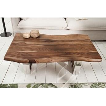 Stolik kawowy Mammut 110x69 cm lite drewno