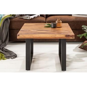 Stolik kawowy Iron Craft 60x60 cm   drewno egzotyczne
