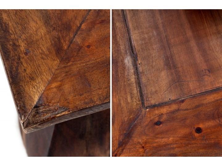 Stolik Kawowy mahoniowy Opium 60x60 cm - styl Shabby Wysokość 35 cm Kształt blatu Kwadratowe Drewno Styl Kolonialny
