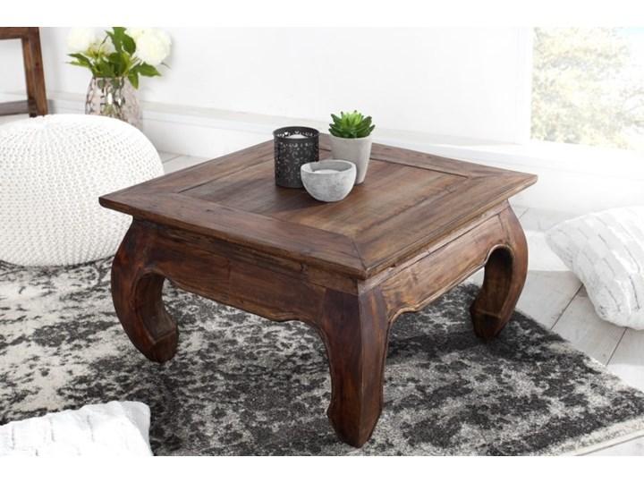 Stolik Kawowy mahoniowy Opium 60x60 cm - styl Shabby Drewno Wysokość 35 cm Styl Kolonialny