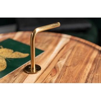 Stolik okrągły, pomocnik Simply Clever 41 cm   połączenie złota i drewna