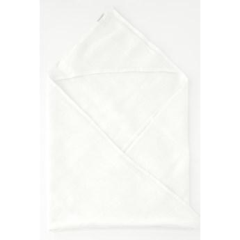 Dziecięcy biały lniany ręcznik Linen Tales Waffle, 100x100 cm