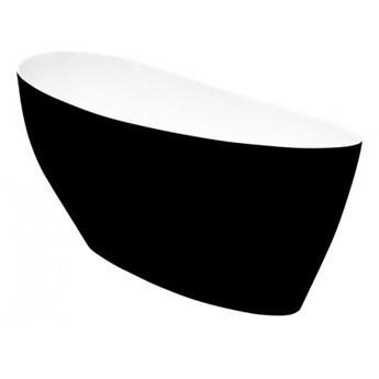 Wanna wolnostojąca Keya B&W, 165x70 cm, owalna, biała/czarna