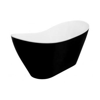 Wanna wolnostojąca Viya B&W, 160x70 cm, owalna, biała/czarna