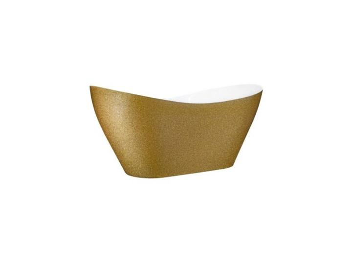 Wanna wolnostojąca Viya Glam, 160x70 cm, owalna, biała/złota Kategoria Wanny