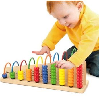 Viga Toys Edukacyjne Liczydło drewniane do Liczenia Szkolne