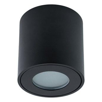 Oprawa hermetyczna sufitowa łazienkowa KLARS Black IP44 GU10 czarna EDO777339 EDO
