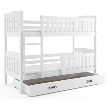 Białe drewniane łóżko dla dziecka 80x190 - Elize 2X