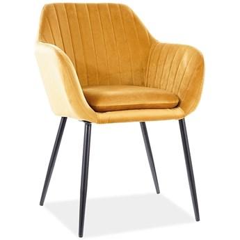 Kubełkowe krzesło jadalniane z poduszką Wenus Velvet