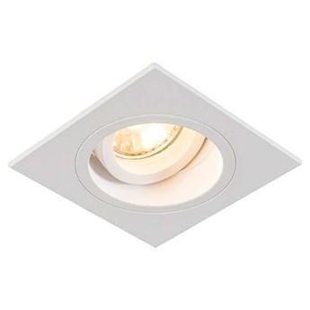 Wpust LAMPA sufitowa CHUCK DL SQUARE 92703 Zumaline metalowa OPRAWA kwadratowa do zabudowy biała