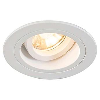 Wpust LAMPA sufitowa CHUCK DL ROUND 92699 Zumaline metalowa OPRAWA oczko do zabudowy białe