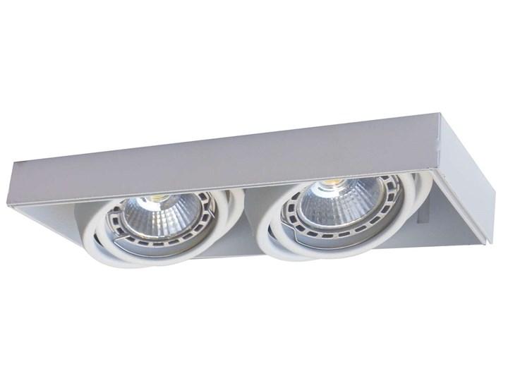 Podtynkowa LAMPA sufitowa ONEON 94362-WH Zumaline prostokątna OPRAWA metalowy WPUST do zabudowy biał ...