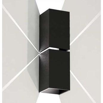 Kinkiet LAMPA ścienna NEMURO 4408 Shilo metalowa OPRAWA tuba prostokątna czarna
