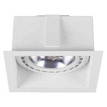 Podtynkowa LAMPA sufitowa MOD 9413 Nowodvorski metalowa OPRAWA kwadratowy WPUST do zabudowy biały