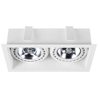 Podtynkowa LAMPA sufitowa MOD 9412 Nowodvorski metalowa OPRAWA prostokątny WPUST do zabudowy biały