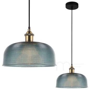 LAMPA wisząca DAVIDE MDM-2916/1 BL Italux szklana OPRAWA zwis niebieski
