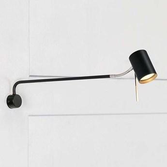 Kinkiet LAMPA ścienna ALICE 107224 Markslojd regulowana OPRAWA na wysięgniku chrom czarna
