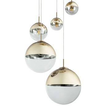 LAMPA wisząca VARUS 15855-5 Globo zwieszana OPRAWA kaskada szklane kule balls złote przezroczyste