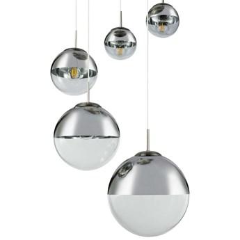 LAMPA wisząca VARUS 15851-5 Globo szklana OPRAWA zwis kaskada szklane kule balls chrom przezroczyste