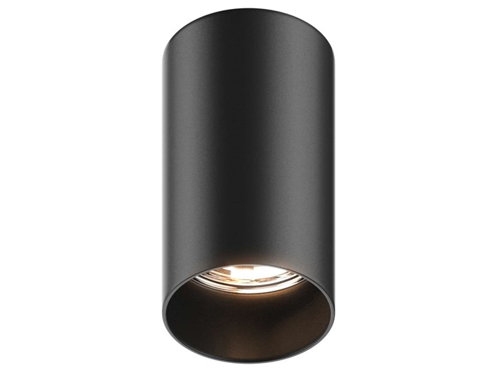 Downlight LAMPA sufitowa TUBA 92680 Zumaline tuba OPRAWA metalowa czarna Oprawa stropowa Okrągłe Oprawa led Kolor Czarny