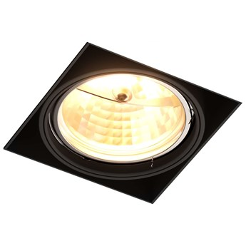 Wpust LAMPA sufitowa ONEON 94363-BK Zumaline metalowa OPRAWA kwadratowa do zabudowy czarny