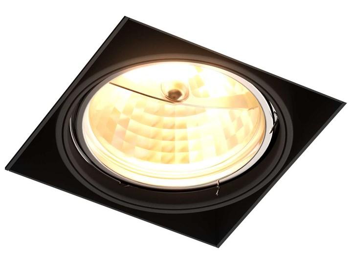 Wpust LAMPA sufitowa ONEON 94363-BK Zumaline metalowa OPRAWA kwadratowa do zabudowy czarny Oprawa stropowa Oprawa led Oprawa wpuszczana Oprawa dekoracyjna Kwadratowe Kategoria Oprawy oświetleniowe