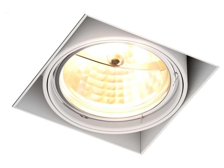 Podtynkowa LAMPA sufitowa ONEON 94363-WH Zumaline kwadratowa OPRAWA metalowy WPUST do zabudowy biały