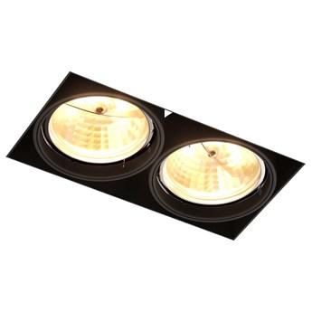 Podtynkowa LAMPA sufitowa ONEON 94364-BK Zumaline prostokątna OPRAWA metalowy WPUST do zabudowy czarny