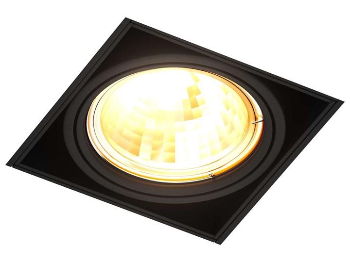 Wpust LAMPA sufitowa ONEON 94361-BK Zumaline metalowa OPRAWA kwadratowa do zabudowy czarny Oprawa led Oprawa dekoracyjna Oprawa stropowa Oprawa wpuszczana Kwadratowe Kategoria Oprawy oświetleniowe