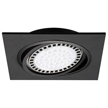 Wpust LAMPA sufitowa BOXY DL 20071-BK Zumaline podtynkowa OPRAWA kwadratowa do zabudowy czarna