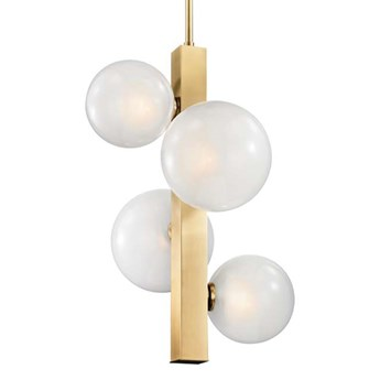 LAMPA wisząca CG4BALLS COPEL metalowa OPRAWA na łańcuchu ZWIS szklane kule balls złote białe