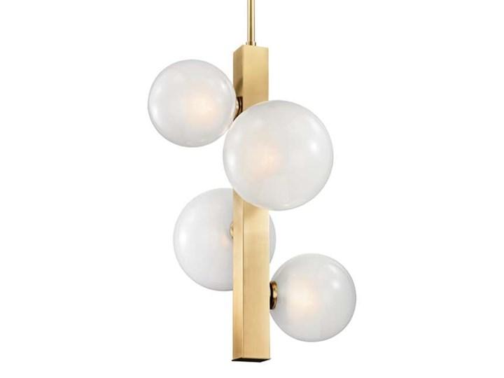 LAMPA wisząca CG4BALLS COPEL metalowa OPRAWA na łańcuchu ZWIS szklane kule balls złote białe Funkcje Brak dodatkowych funkcji Stal Lampa z kloszem Szkło Kolor Złoty