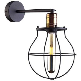 Kinkiet LAMPA ścienna MANUFACTURE 9742 Nowodvorski metalowa OPRAWA industrialna klatka druciana miedź czarna