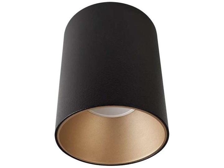 LAMPA sufitowa EYE TONE 8931 Nowodvorski metalowa OPRAWA tuba downlight czarna złota Oprawa stropowa Oprawa led Okrągłe Kolor Czarny