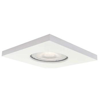 LAMPA sufitowa LAGOS LP-440/1RS WHsquare Light Prestige podtynkowa OPRAWA metalowy WPUST kwadratowy do łazienki IP65 biały