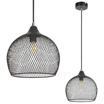 LAMPA wisząca RONAN 7601 Rabalux ażurowa OPRAWA metalowy ZWIS loftowa siatka czarna